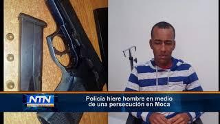 Policía hiere hombre en medio de una persecución en Moca