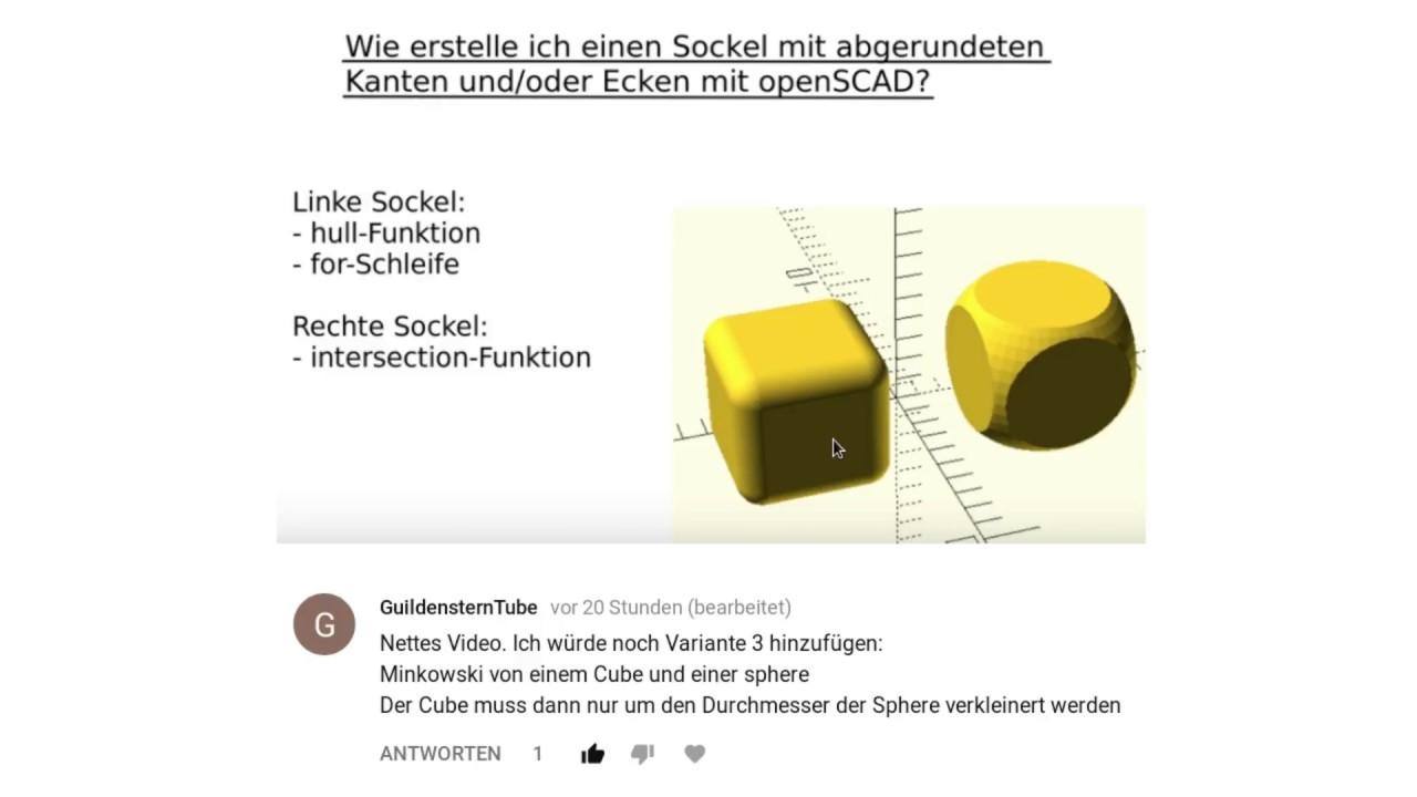 Abgerundete Ecken mit Minkowski openSCAD - Смотреть видео онлайн