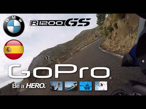 GOPRO: BMW R 1200 GS. PUERTOS DE AVILA, SPAIN. 4K HD