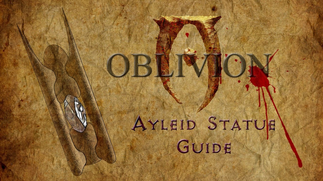 Oblivion Ayleid Statue Guide Youtube