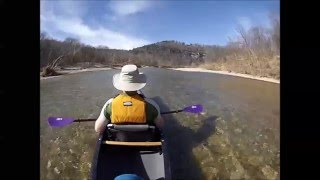 Floating the Buffalo National River in my Old Town Next
