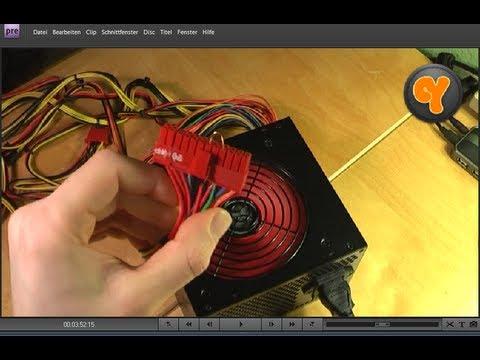 ATX Netzteil ohne Mainboard / PC starten - YouTube