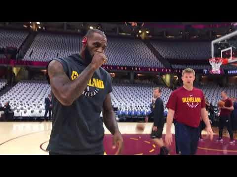 LeBron James warms up before Celtics vs. Cavaliers season opener | ESPN