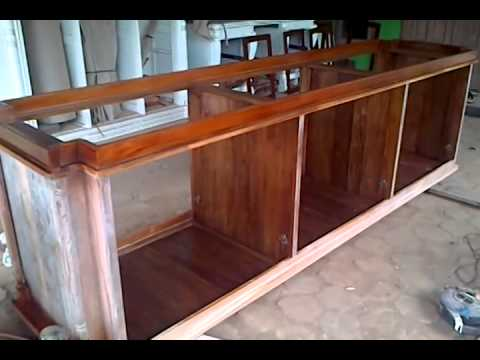 Finishing Melamine Aquarium Ikan Jumbo Mebel Indonesia