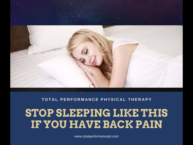 STOP sleeping like this if you have back pain