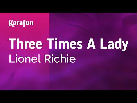 Karaoke Three Times A Lady - Lionel Richie *