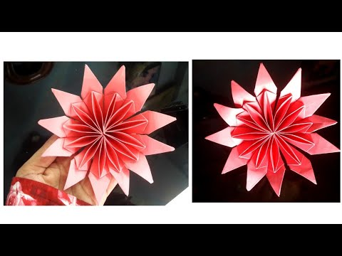 Paper flower making video - easy - nupur's handicrafts