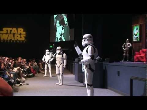 Star Wars Weekends Stormtrooper Skit before Stars of the Saga 5/18/12 Walt Disney World