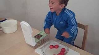 Baby Andrew Makes A Savory Veggie Stew - 100% Raw Food Diet & Low-fat