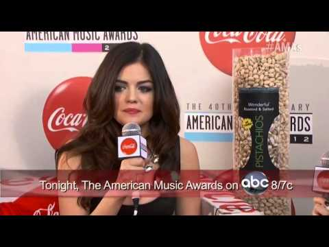 AMA 2012, Lucy Hale, Red Carpet Interview