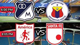MILLONARIOS 3 VS PASTO 1 / AMÉRICA 0 VS SANTA FE 0 - LIGA I 2021 - FECHA 7