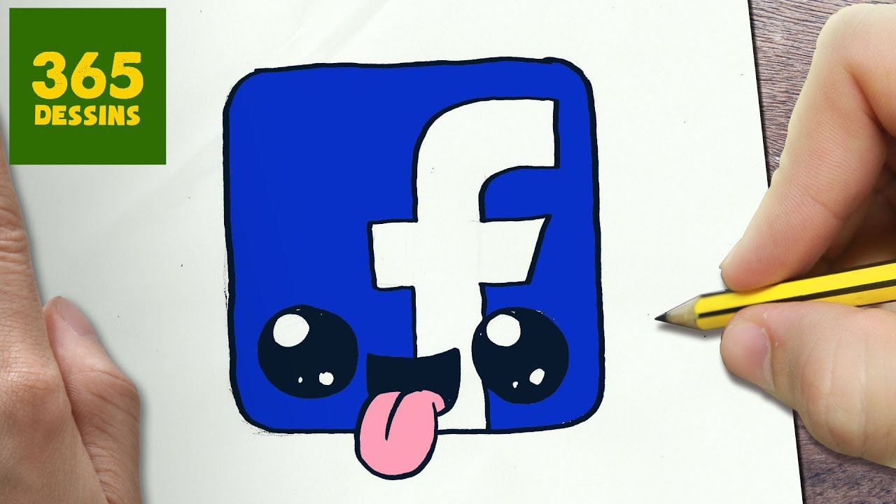 Comment Dessiner Logo Facebook Kawaii étape Par étape Dessins Kawaii Facile