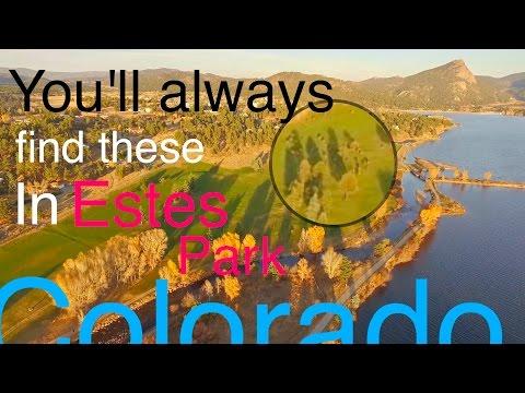 Beautiful Estes Park, Colorado    4K drone footage