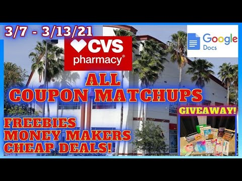 CVS Freebies MM & Cheap Deals 3/7~ALL CVS Coupon Matchups 3/7~CVS Week of 3/7~MUST ENTER GIVEAWAY!
