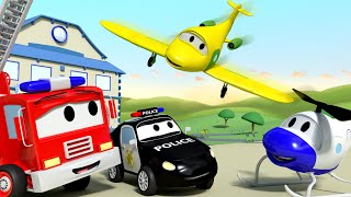 Car Patrol -  Penny the PLANE, the NEW MEMBER of the CREW!  - Car City ! Police Cars and fire Tru...