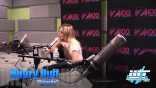 """Sparks"" fly when Hilary Duff sits down in studio with Jagger"