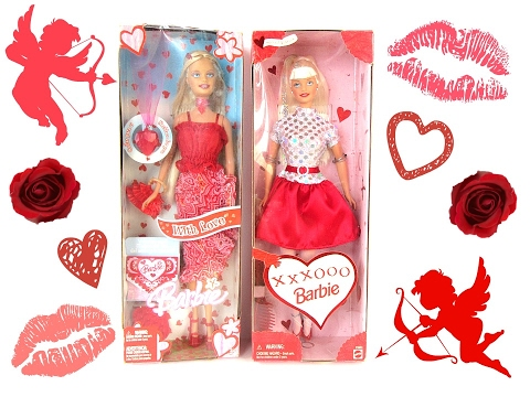 retro valentine barbies from 1999 & 2005 - youtube, Ideas