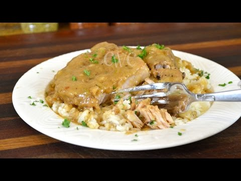 Smothered Pork Chops Recipe |Soul Food Recipe |Cooking With Carolyn