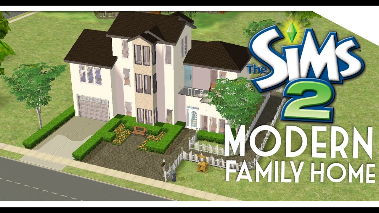 The sims 2 speed build modern family home youtube for Modern family house 90210