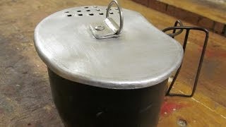 Crusader canteen cup lid. How to make a metal lid for your canteen cup.
