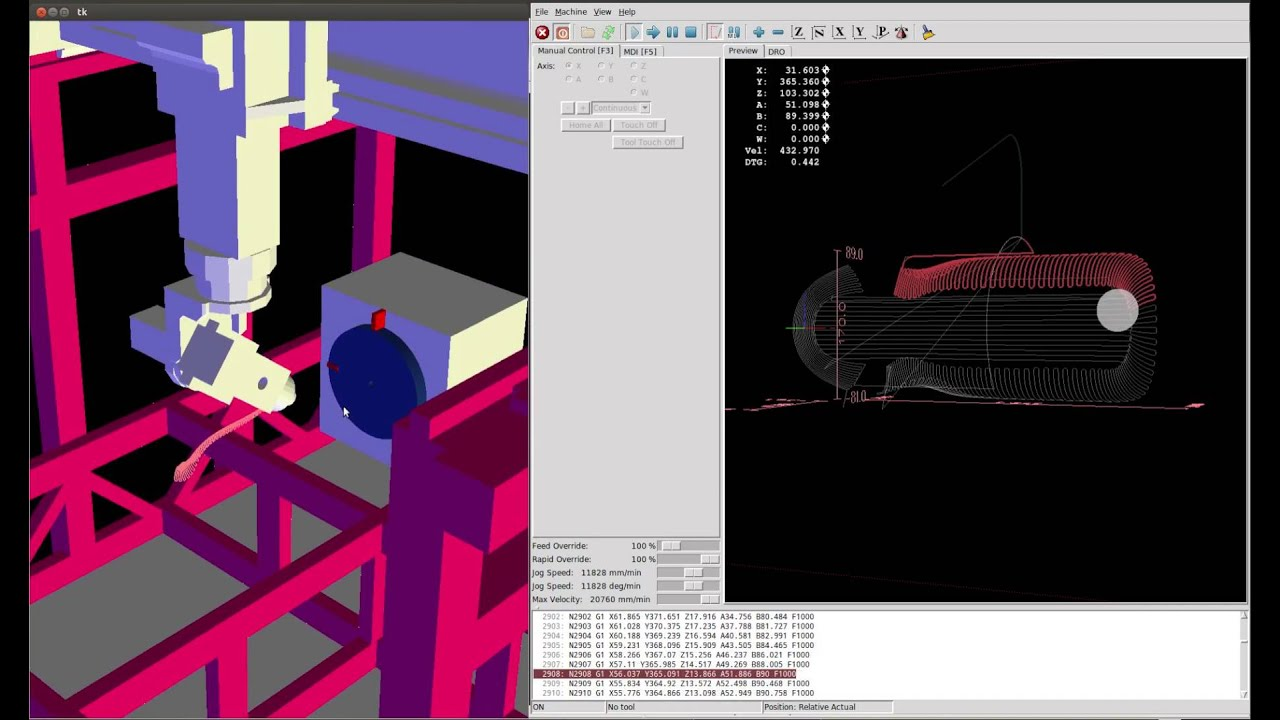 This is an example of what I am trying to accomplish : - LinuxCNC