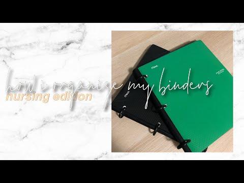 How I Organize My Five Star Flex Binders | Nursing Edition