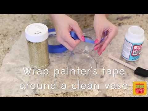 Diy Glitter Vases Youtube