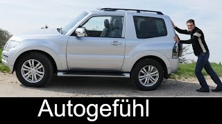Mitsubishi Pajero Montero 3-door compact FULL REVIEW test driven - Autogefühl
