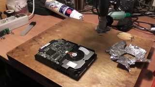 Ремонт диска Hitachi  IC35L073UCDY10-0 73.4 Гб и восстановление данных - Обзор(, 2015-02-04T15:23:27.000Z)