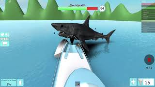 Deadliest shark in the sea and spinning boat | Roblox: MEGALODON SharkBite