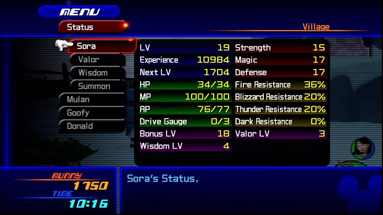 Kingdom Hearts HD 2.5 Remix -- KH2 - Leveling Up Valor Form - YouTube