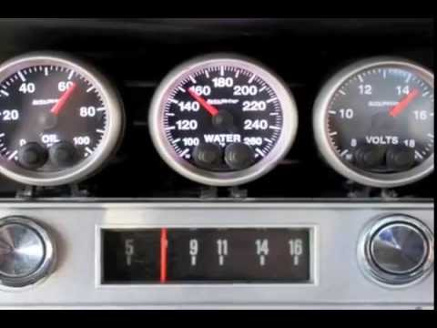 auto meter  basic water temp gauge installation video