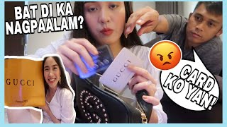 SHOPPING USING YOUR CREDIT CARD PRANK! PINAGALITAN AKO!