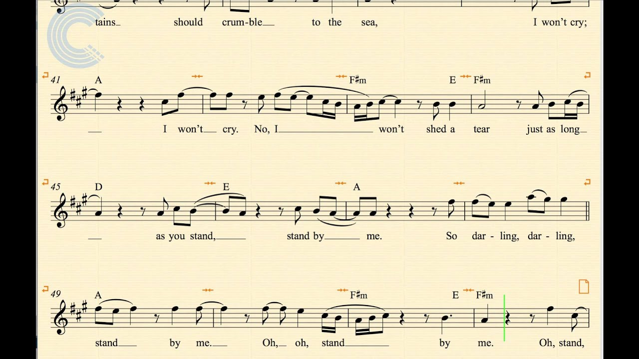 Violin - Stand By Me - Ben King - Sheet Music, Chords, u0026 Vocals - YouTube