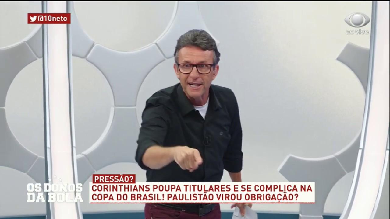 Vocês estão covardes, diz Neto para Fábio Carille