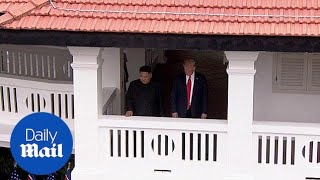 Trump and Kim Jong-Un walk around Singapore summit venue - Daily Mail