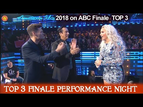 "Gabby Barrett sings ""Don't Stop Believing""Steve Perry in Audience American Idol 2018 Finale Top 3"
