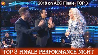 "Gabby Barrett sings ""Don't Stop Believing""  Steve Perry in Audience American Idol 2018 Finale Top 3"