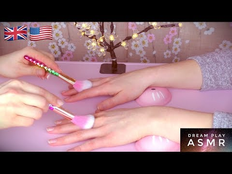 ★ASMR★ Relaxing Hand Tickling Massage and Manicure | Dream Play ASMR