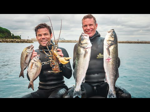 Lobster & Bream In One Dive! Spearfishing With 2 British Champions!