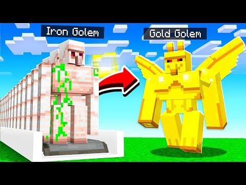 How to UPGRADE Minecraft GOLEMS!