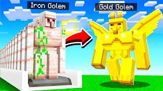 How to UPGRADE Minecraft GOLEMS!