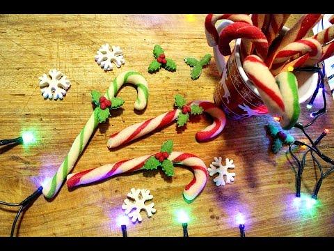 Choinkowe laski świąteczne