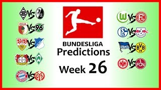 2018-19 BUNDESLIGA PREDICTIONS - WEEK 26