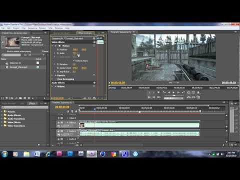 How to resize a video in Adobe Premiere Pro