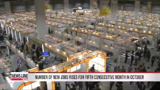 Number of new jobs rises for fifth consecutive month in October