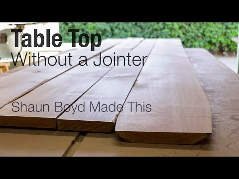 How to Make a Table Top Without a Jointer