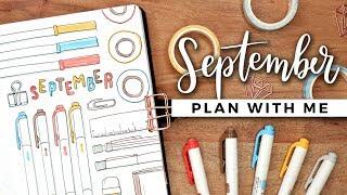 PLAN WITH ME   September 2019 Bullet Journal Setup