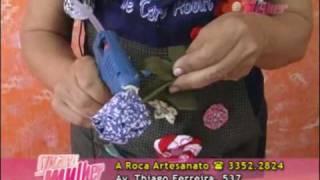 A Roca – Flor de tecido Profª Deise
