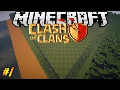 Let's Build Clash Of Clans In Minecraft PART 1| Landscape